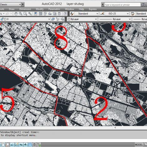 دانلود نقشه اتوکد طرح تفصیلی شیراز