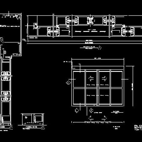نقشه اتوکد طراحی درب اتوماتیک کشویی
