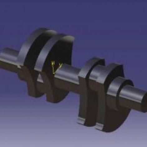 پروژه جامع و کامل طراحی میل لنگ ماشین