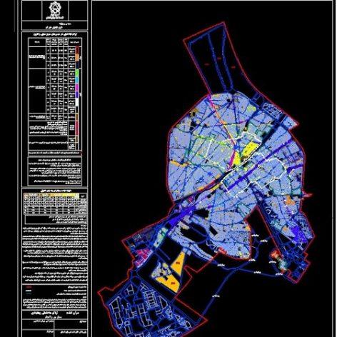 نقشه طرح تفصیلی شهر مقدس قم(DWG)