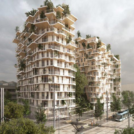 پروژه تحلیل و بررسی مجتمع مسکونی سبز در بوردو فرانسه به همراه پلان و تصاویر